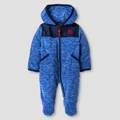 Baby Boys' RBX Space Dye One-Piece Snowsuit Blue 0-3M
