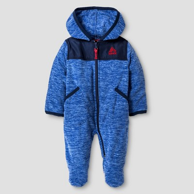 Baby Boys' RBX Space Dye One-Piece Snowsuit Blue 6-9M