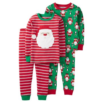 Toddler Boys' 4 Piece Santa Stripe Cotton PJ  - Just One You™Made by Carter's®