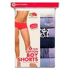 Fruit of the Loom® Women's Assorted Boyshort 6-Pack - Multicolored 5
