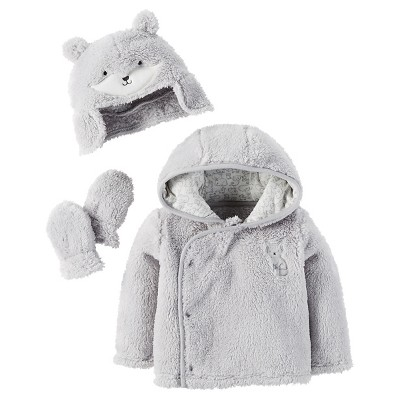 Baby Sherpa Fox Set Grey 0-3M  - Just One You™Made by Carter's®