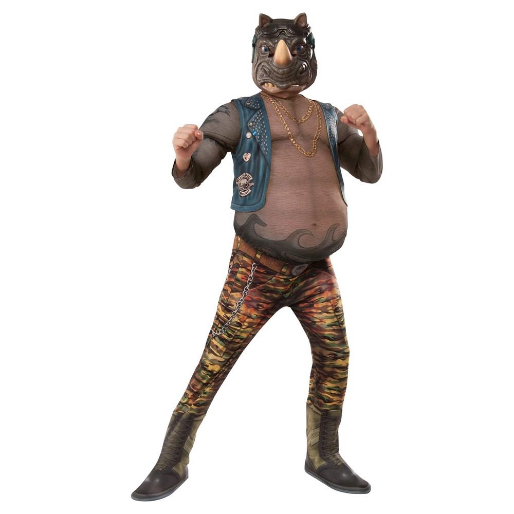 Teenage Mutant Ninja Turtles Rocksteady Deluxe Movie Version Kid's Costume - Large, Size: L(12-14), Multi-Colored