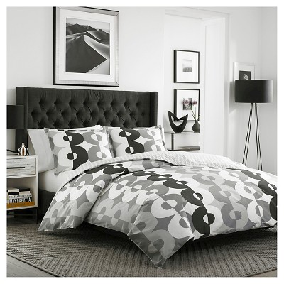 Kelso Comforter And Sham Set Full/Queen Gray - City Scene®