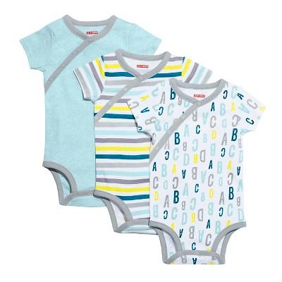 Skip Hop Baby Boys' Short Sleeve Side Snap Bodysuit Set - Blue 6M