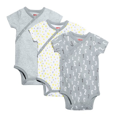 Skip Hop Baby Short Sleeve Side Snap Bodysuit Set - Grey 3M