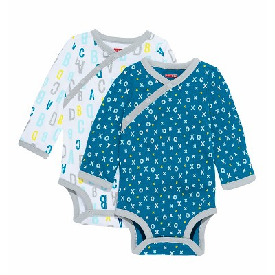 Skip Hop Baby Boys' Long Sleeve Side Snap Bodysuit - Blue 3M