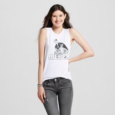 Women's Just Bieber Muscle Tank White L - Bravado