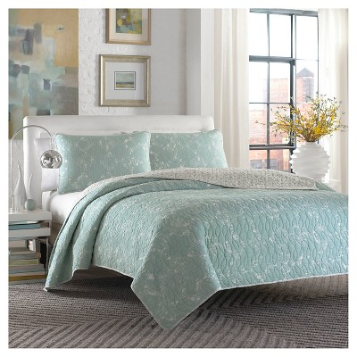 Giani Quilt And Sham Set Full/Queen Teal - City Scene™