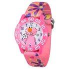 Girls' Sesame Street Pink Plastic Time Teacher Wristwatch - Pink