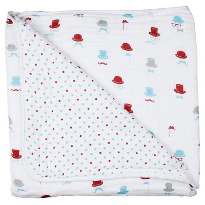 Bebe au Lait Snuggle Blanket, Bowler/Polka Dot