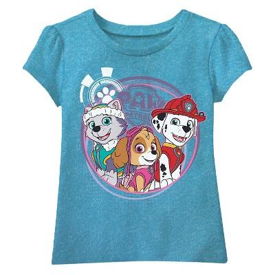 Toddler Girls' Paw Patrol T-Shirt 3T - Ocean Blue