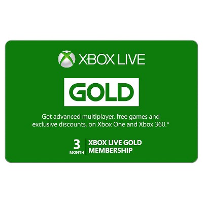 Xbox Live 3 Month Gold Membership $24.99 (Email Delivery)