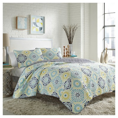 Stardust Quilt And Sham Set King Seaglass - City Scene™