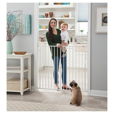 Storkcraft Easy Walk-Thru Tall Metal Baby Gate - White
