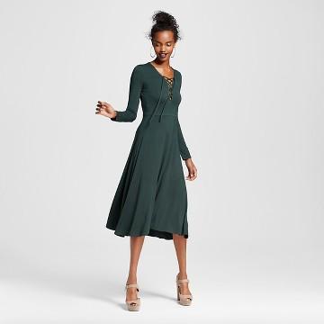 Women's Lace-up Midi Dress - Xhilaration™ (Juniors')