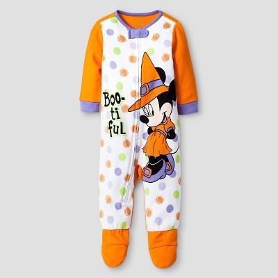Disney® Minnie Mouse Footed Sleeper - Orange