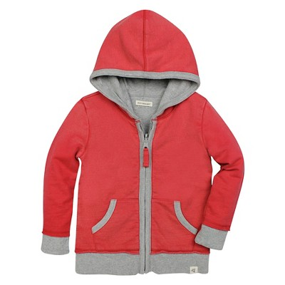 Burt's Bees Baby™ Reversible French Terry Hoodie - Red 0-3M