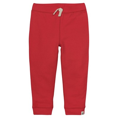 Burt's Bees Baby™ French Terry Cargo Pant - Red 0-3M
