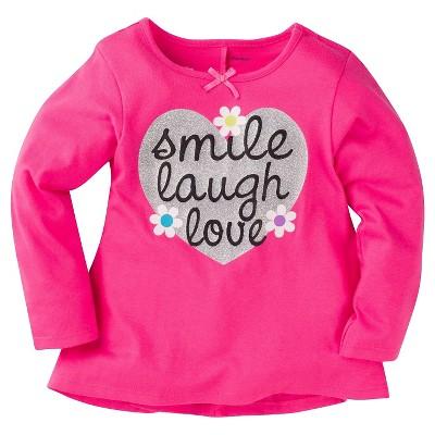 Gerber® Graduates® Toddler Girls' Heart Top - Pink 12M