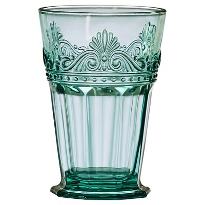 Global Amici Rococo Teal Hiball Drinkware Set - Set of 4