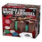 Cardinal Industries Revolving Wood Round Poker Set