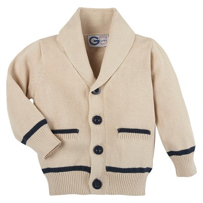G-Cutee® Baby Boys' Varisty Cardigan - Tan 3-6M