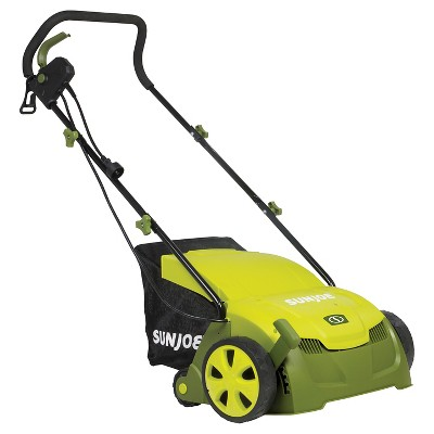 Sun Joe 13 Inch-Electric Scarifier + Lawn Dethatcher - Green