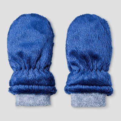Baby Boys' Igloos Butter Pile Mittens Mid Blue 12M-24M