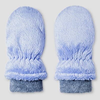 Baby Girls' Igloos Butter Pile Mittens Periwinkle 12M-24M