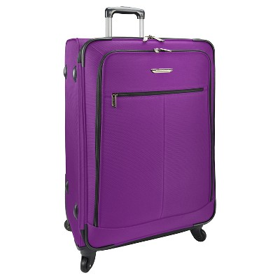 "Traveler's Choice Upright Suitcase - Purple (22"")"
