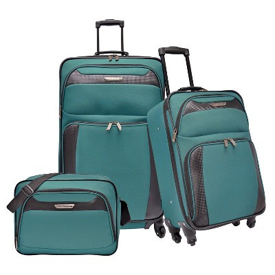 Traveler's Choice Luggage Set - Teal