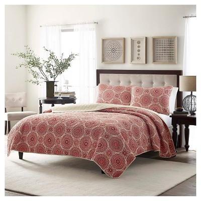 Amadea Quilt And Sham Set Twin Red - Stone Cottage™