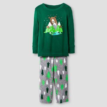 Baby Boys' 2-Piece Pajama Set Bear - Cat & Jack™ - Green