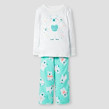 Baby Girls' 2-Piece Pajama Set Polar Bear - Cat & Jack™ - White