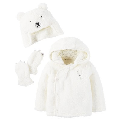 Baby Sherpa Bear Set Cream 3-6M - Just One You™Made by Carter's®
