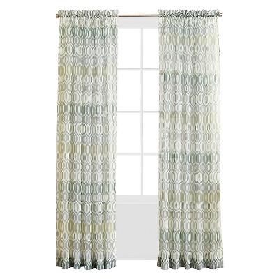 "No. 918 Lexington Printed Voile Curtain Panel 59"" x 84"" Mineral"