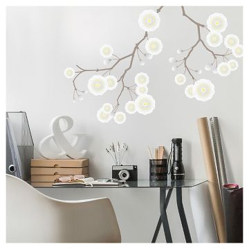 paper riot white plum blossom branch large playbook wall decals