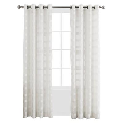 "No. 918 Wonda Grommet Curtail Panel 52"" x 84"" White"