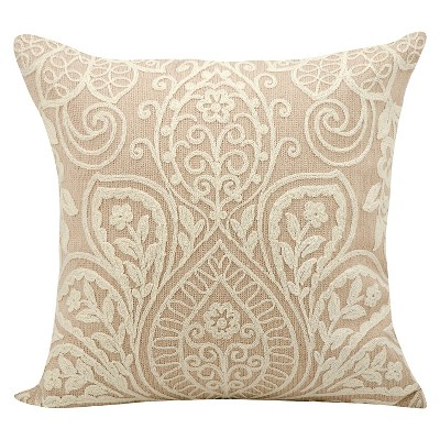 "Medallion Lace Throw Pillow Blush (18""x18"") - Mina Victory"