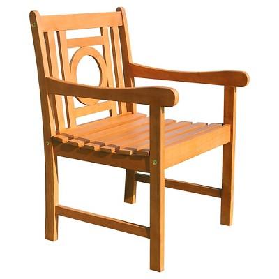 Vifah Malibu Eco-friendly Outdoor Hardwood Garden Arm Chair