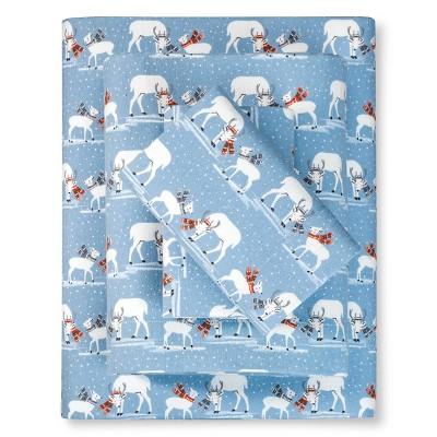 Blustery Day Flannel Sheet Set (King) Blue - Eddie Bauer®