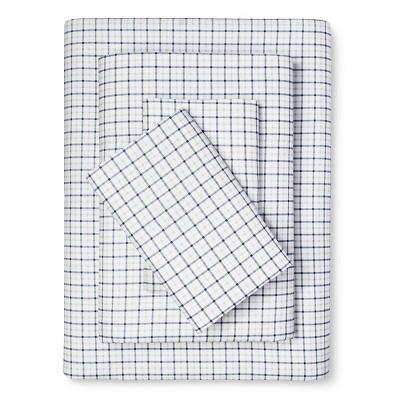 Plaid Sheet Set (Twin) Navy - Eddie Bauer®