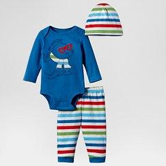 Lamaze Baby Boys' Organic 3 Piece Set - Blue