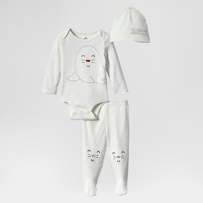 Lamaze Baby Organic 3 Piece Holiday Set - White 3M