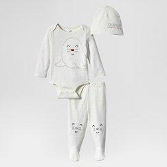 Lamaze Baby Organic 3 Piece Holiday Set - White