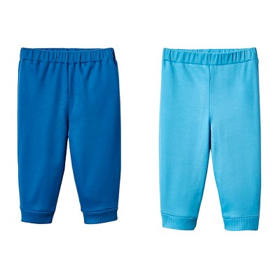 Lamaze Baby Boys' Organic 2 Pack Pant Set - Blue 3M