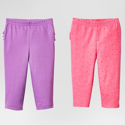 Lamaze Baby Girls' Organic 2 Pack Pant Set - Pink 12M