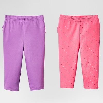 Lamaze Baby Girls' Organic 2 Pack Pant Set - Pink 9M