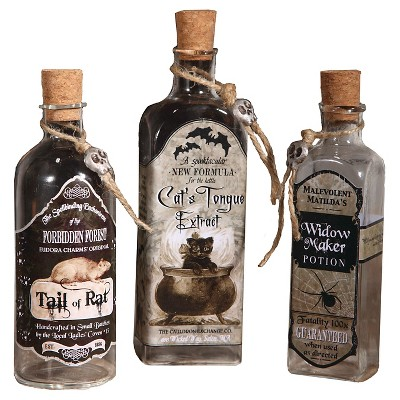 Halloween Apothecary Bottles - 3 ct