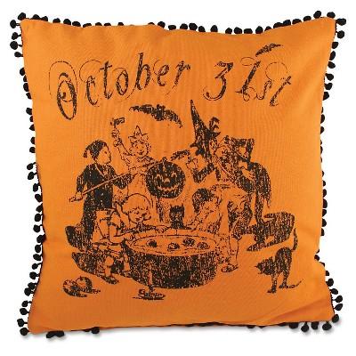Halloween Bobbing For Apples Pillow